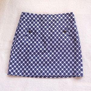Ann Taylor / Loft Purple Hexagonal Skirt Size 6